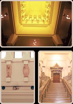 大倉山記念館の内観など